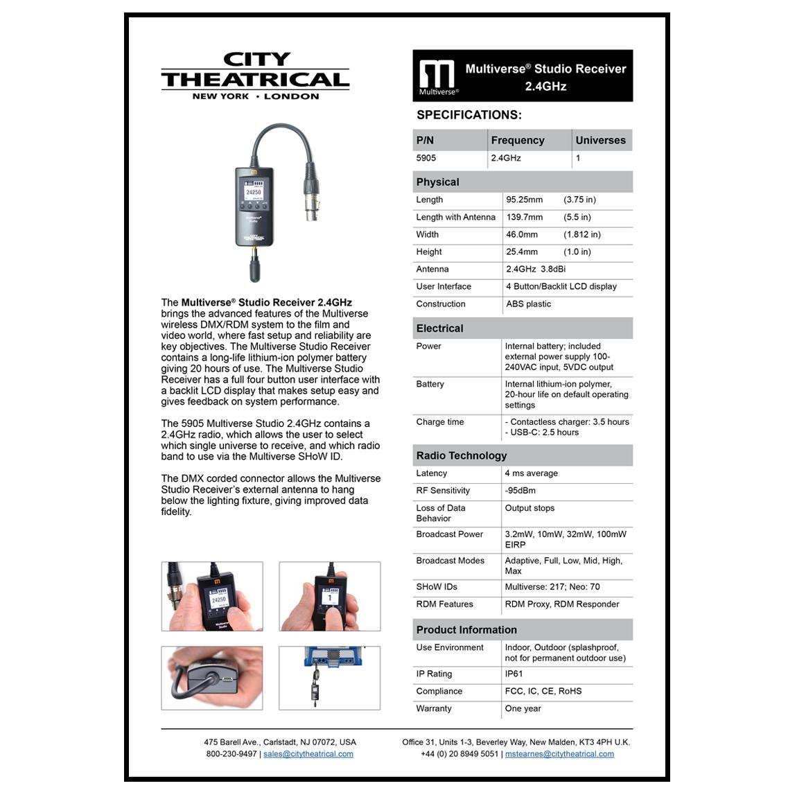 5905 Multiverse Studio Receiver Cut Sheet