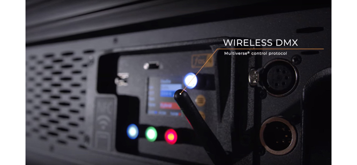 Multiverse Wireless DMX in Fos/4 Panel