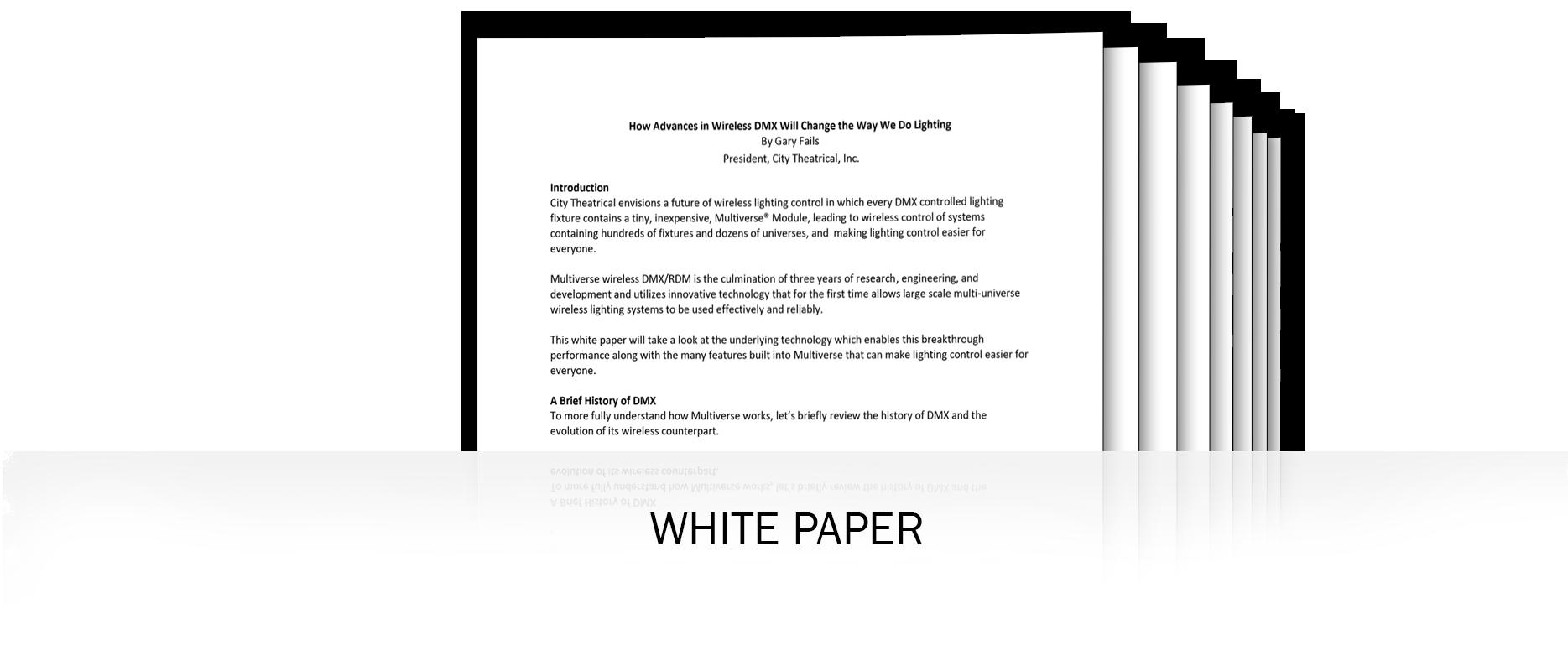 Multiverse Wireless DMX White Paper
