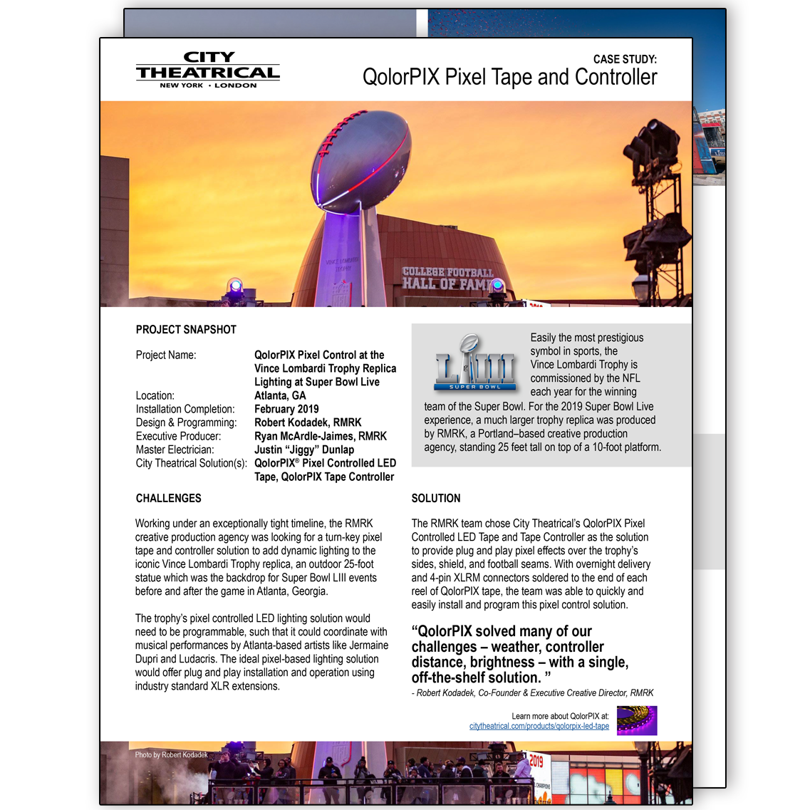 Case Study: Lombardi Trophy Replica for Super Bowl LVIII