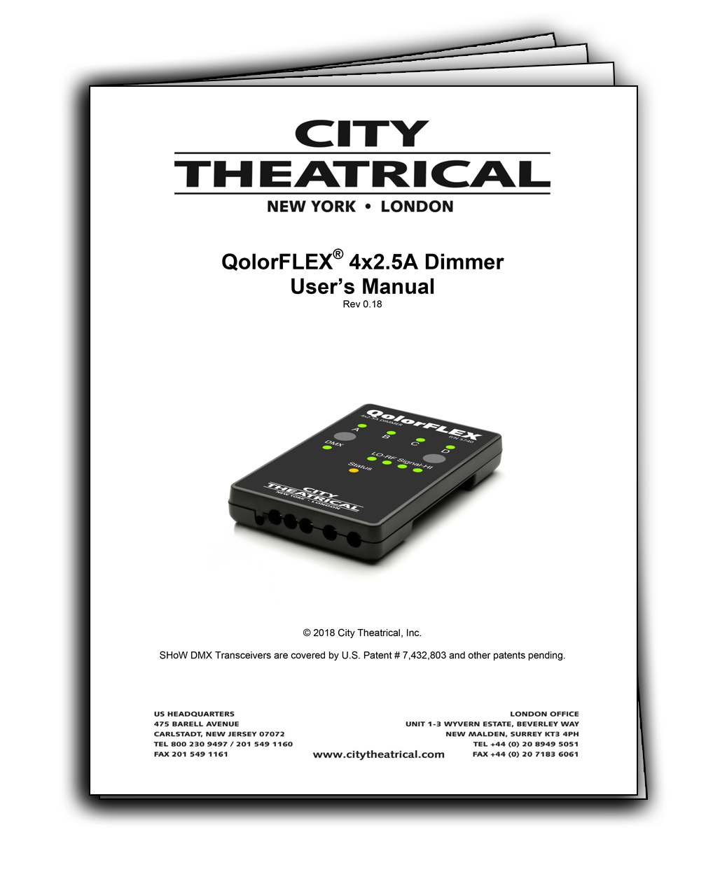 QolorFLEX 4x2.5A Dimmer User's Manual