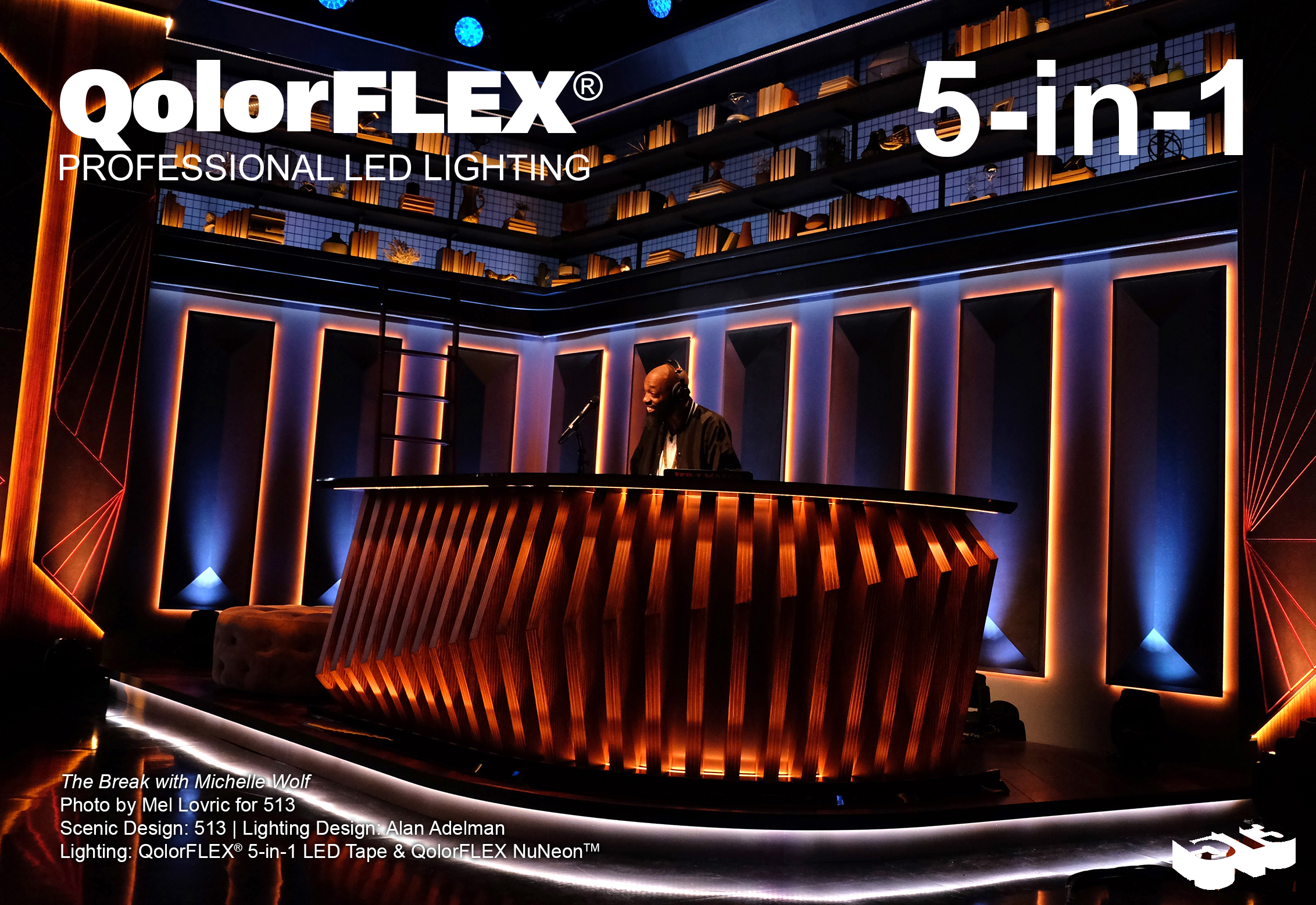 QolorFLEX 5-in-1 LED Tape on The Break with Michelle Wolf, DJ Booth