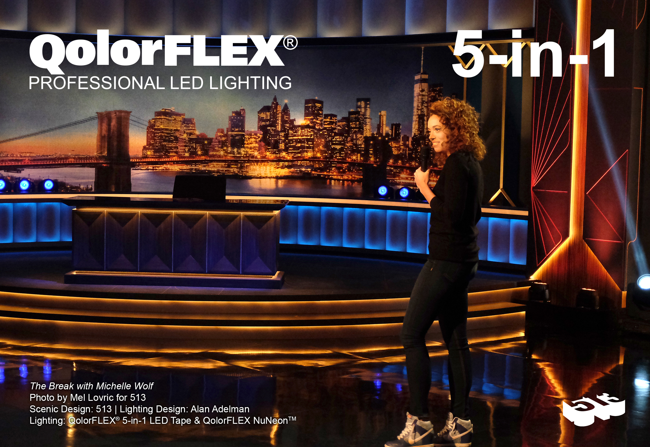 QolorFLEX 5-in-1 LED Tape on The Break with Michelle Wolf, Monologue