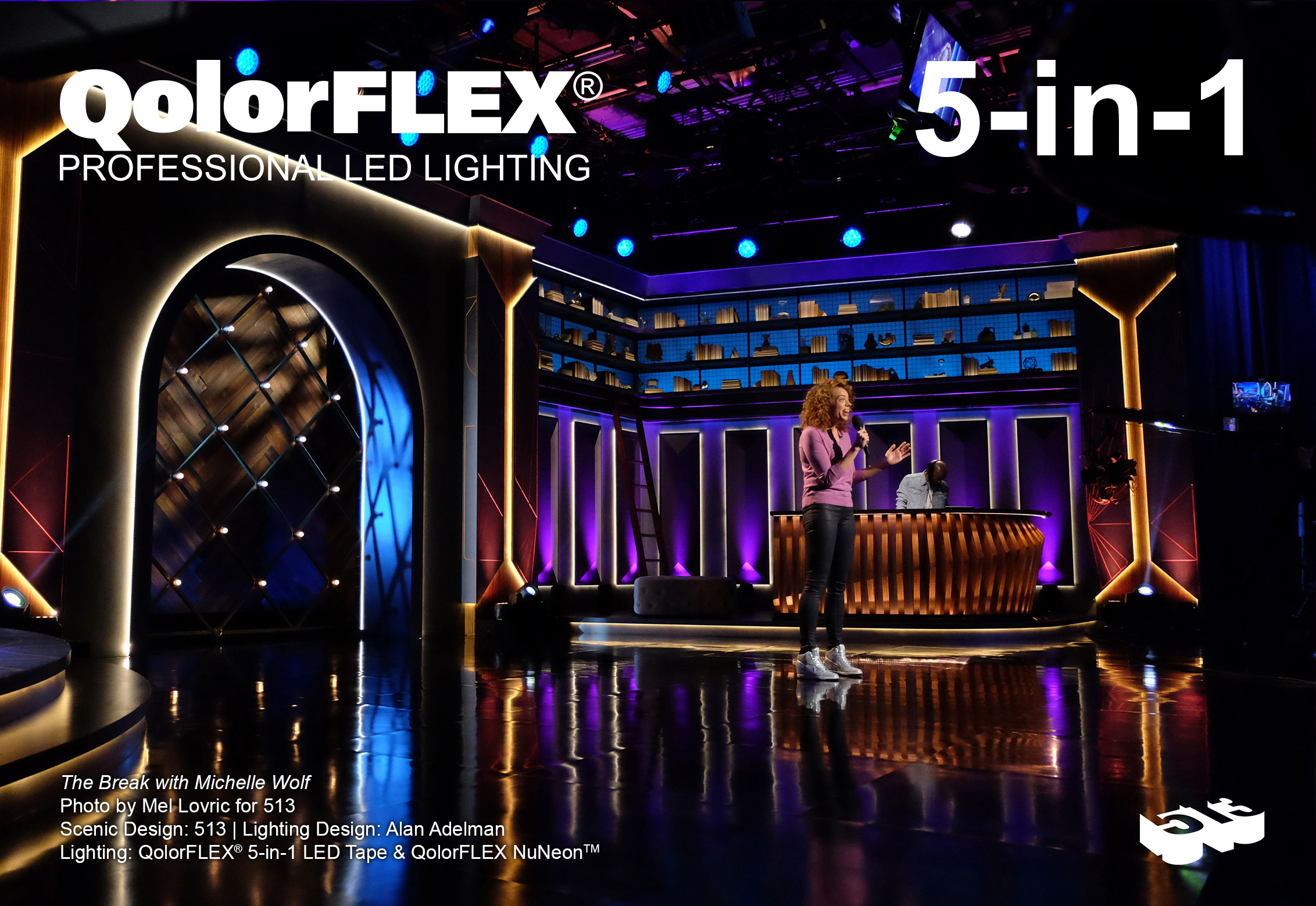 QolorFLEX 5-in-1 LED Tape on The Break with Michelle Wolf