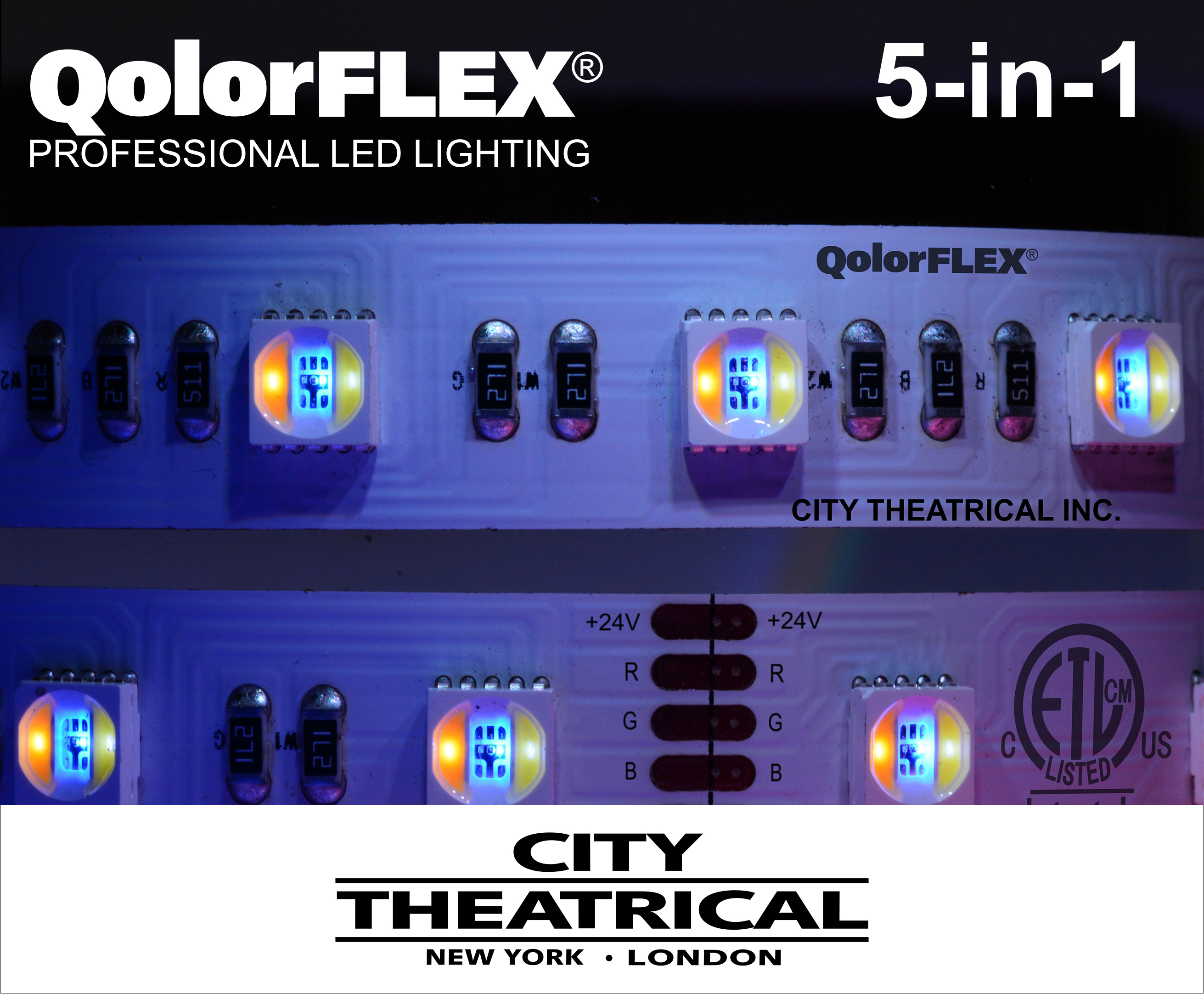 QolorFLEX 5-in-1 LED Tape with logos