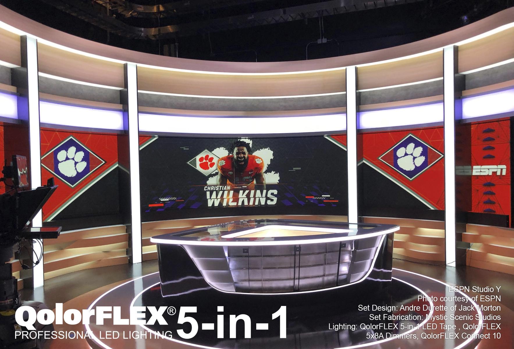 QolorFLEX at ESPN Studio Y
