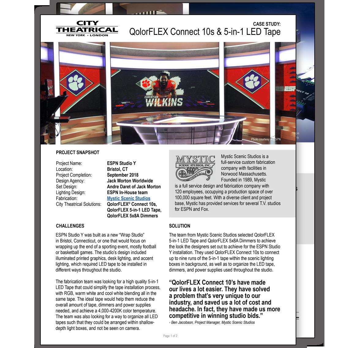 QolorFLEX Case Study: ESPN Studio Y