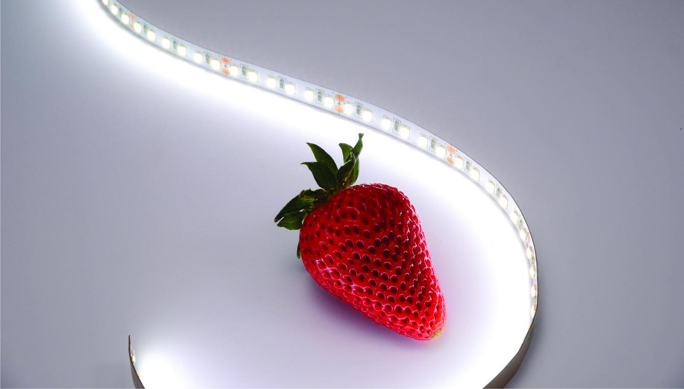 QolorFLEX HiQ LED Tape on beauty photography set