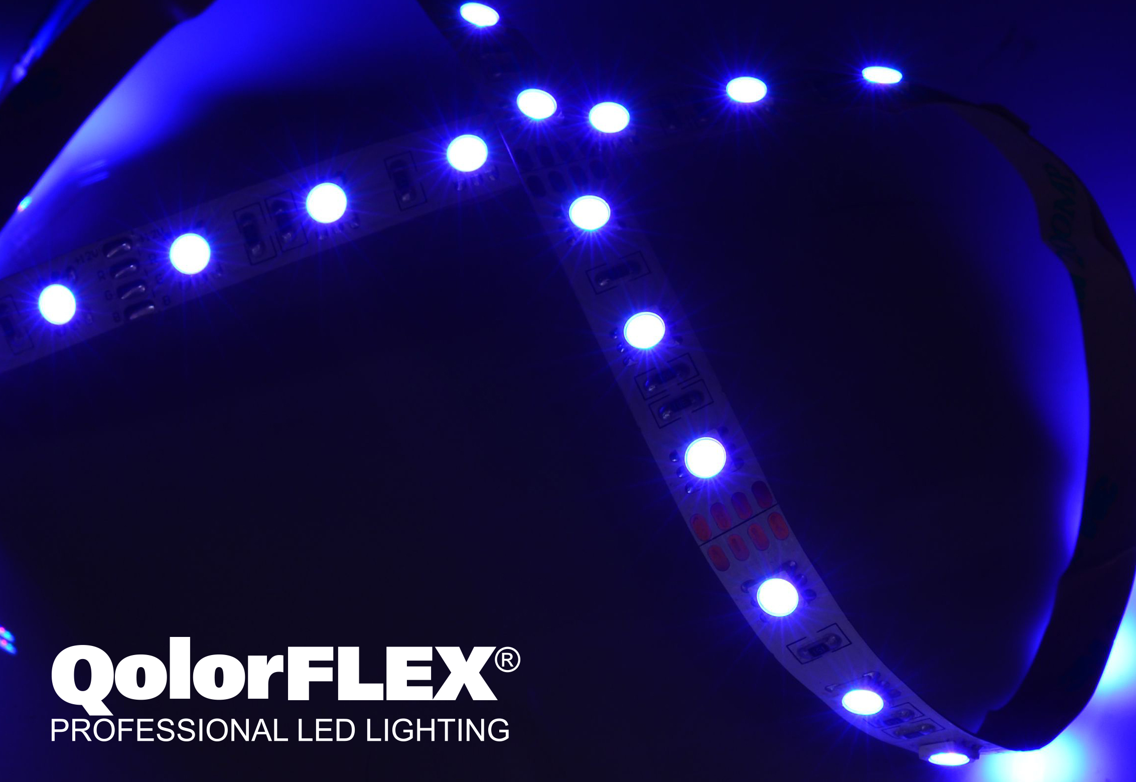 QolorFLEX LED Tape close up - blue infinity