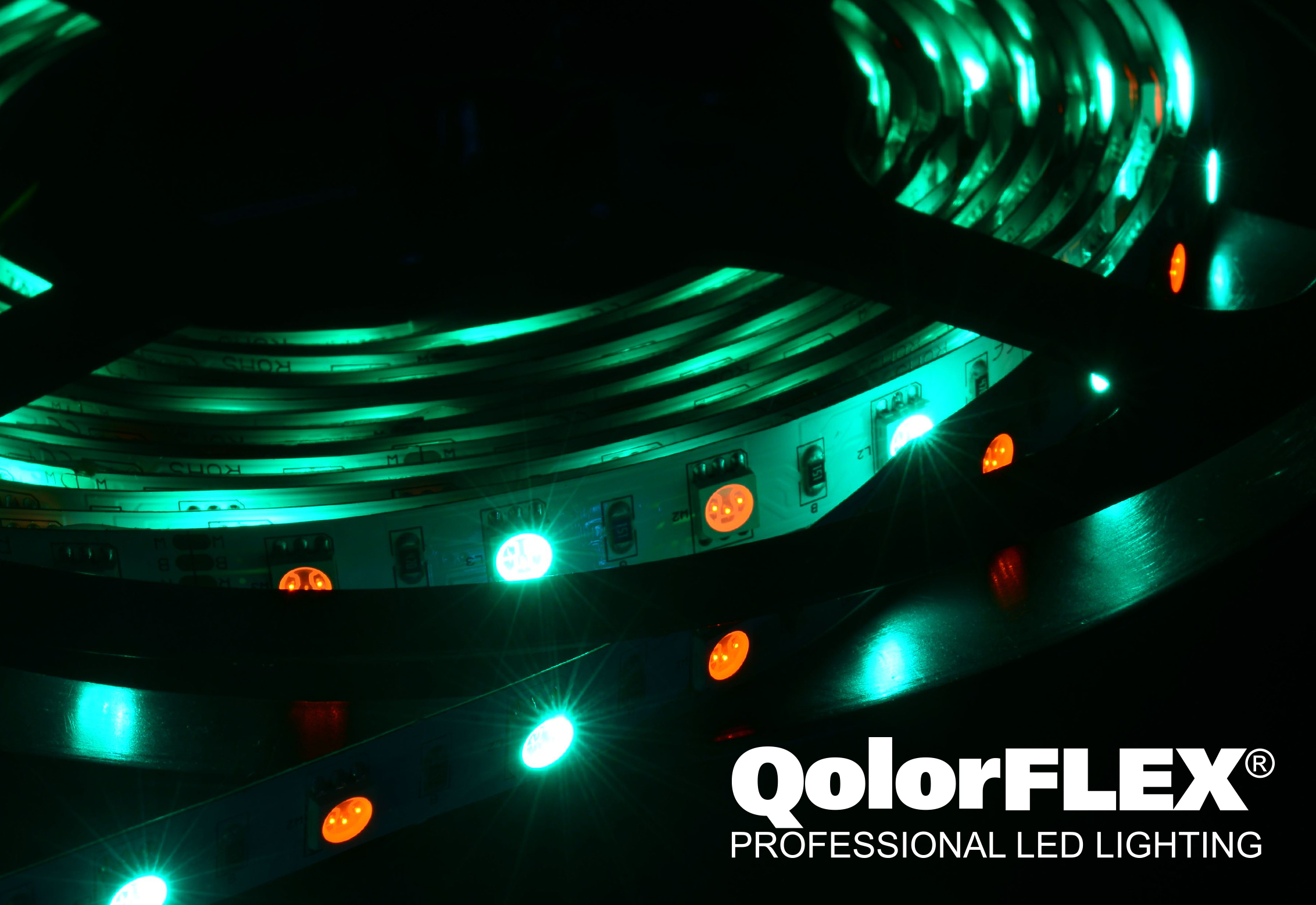 QolorFLEX LED Tape close up - green hue
