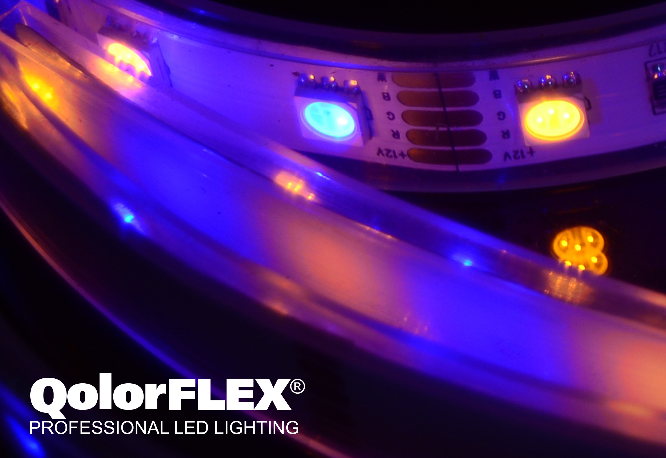 QolorFLEX LED Tape close up - purple hue