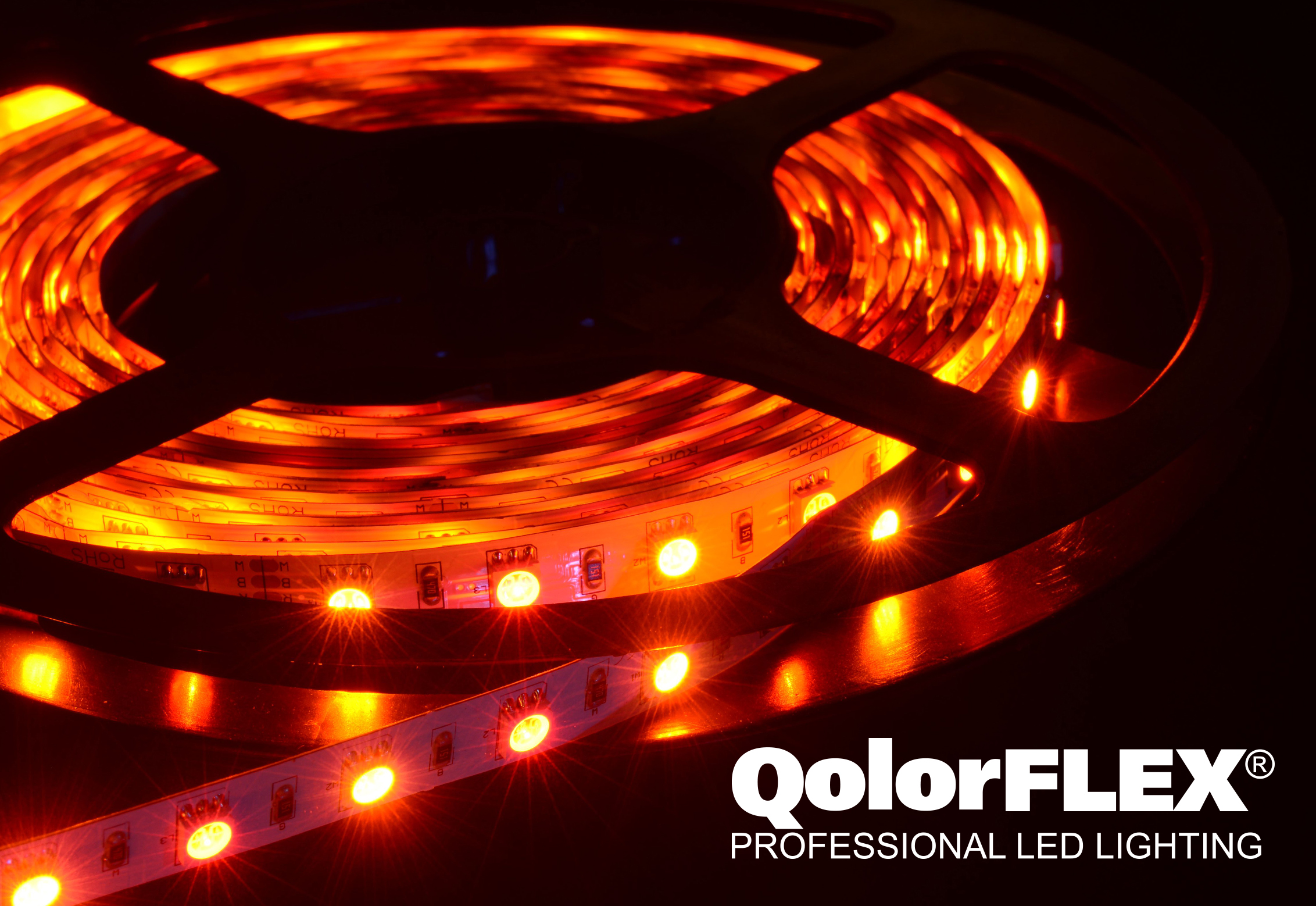QolorFLEX LED Tape close up - red hue
