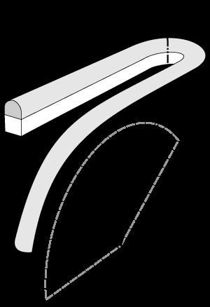 QolorFLEX NuNeon 1/2' and 6' Bend Radii Illustration