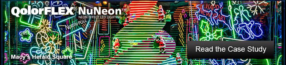 QolorFLEX NuNeon at Macy's Herald Square Holiday Windows