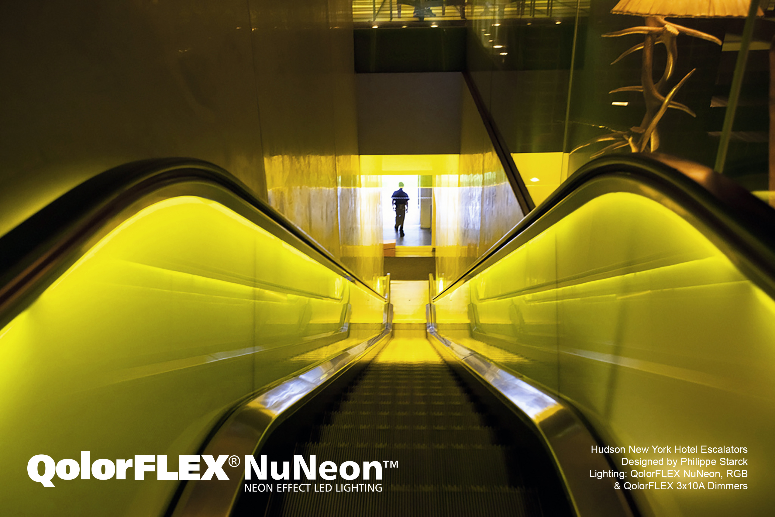QolorFLEX NuNeon at the Hudson New York escalators