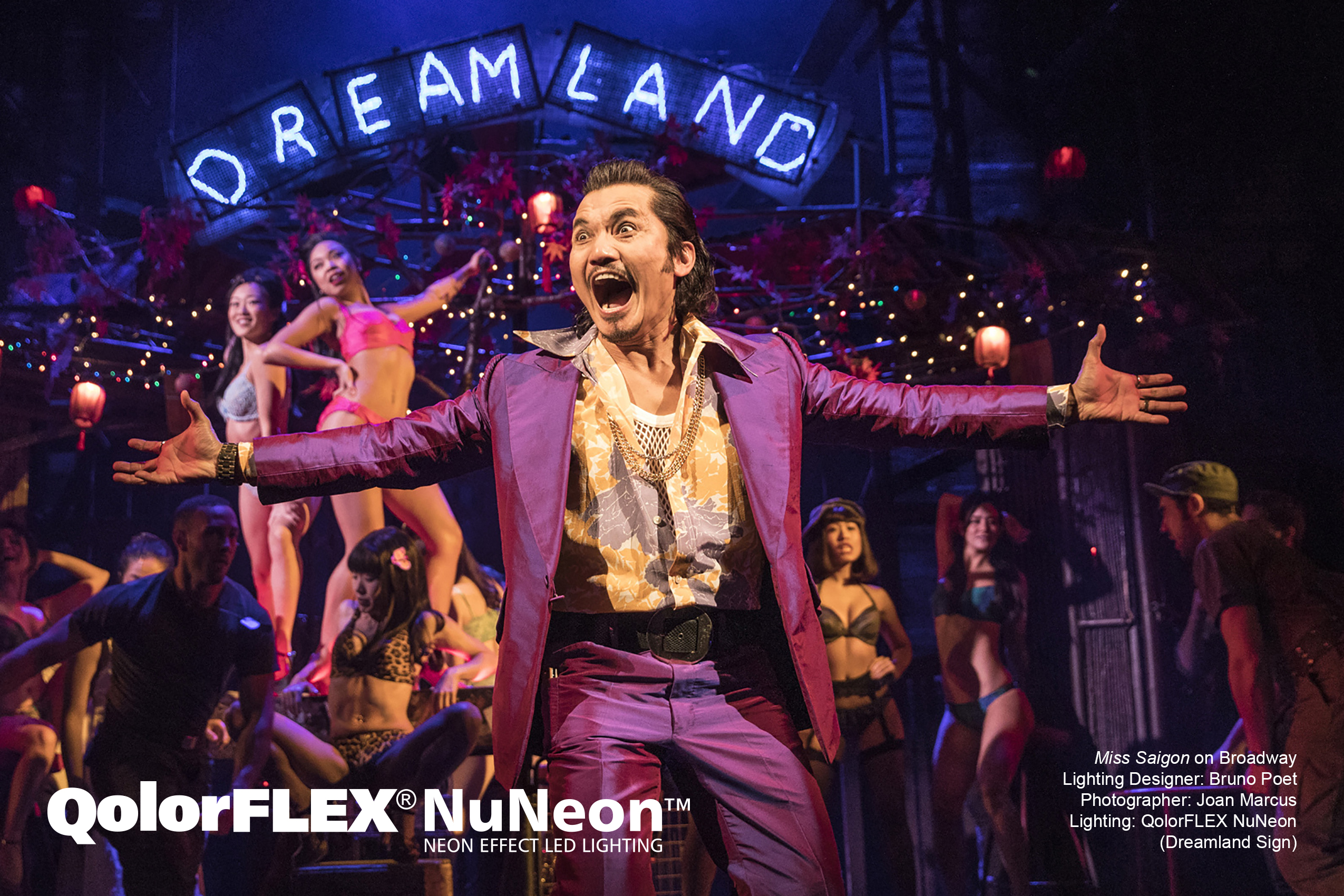 QolorFLEX NuNeon in Miss Saigon on Broadway