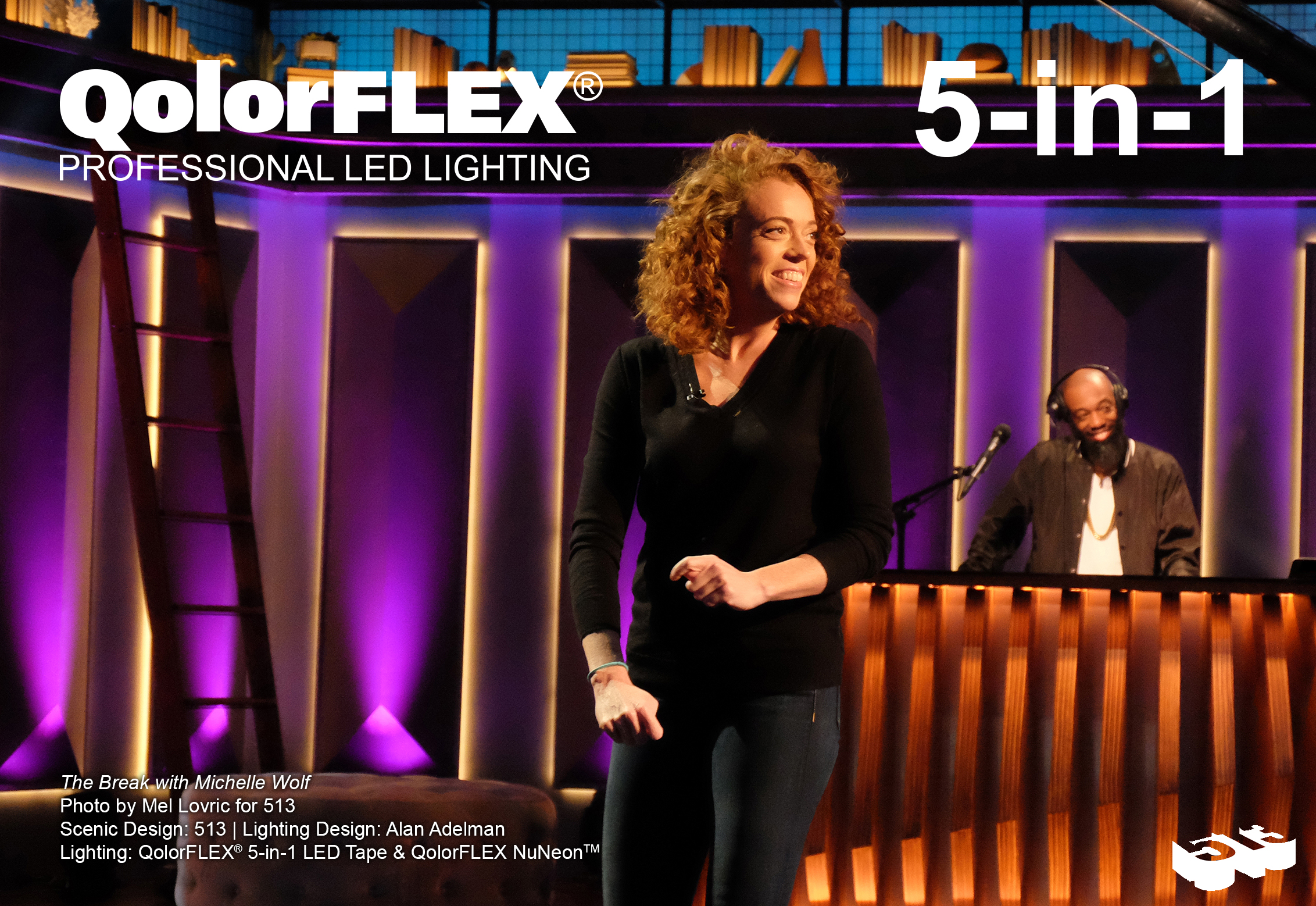 QolorFLEX products on The Break with Michelle Wolf, monologue