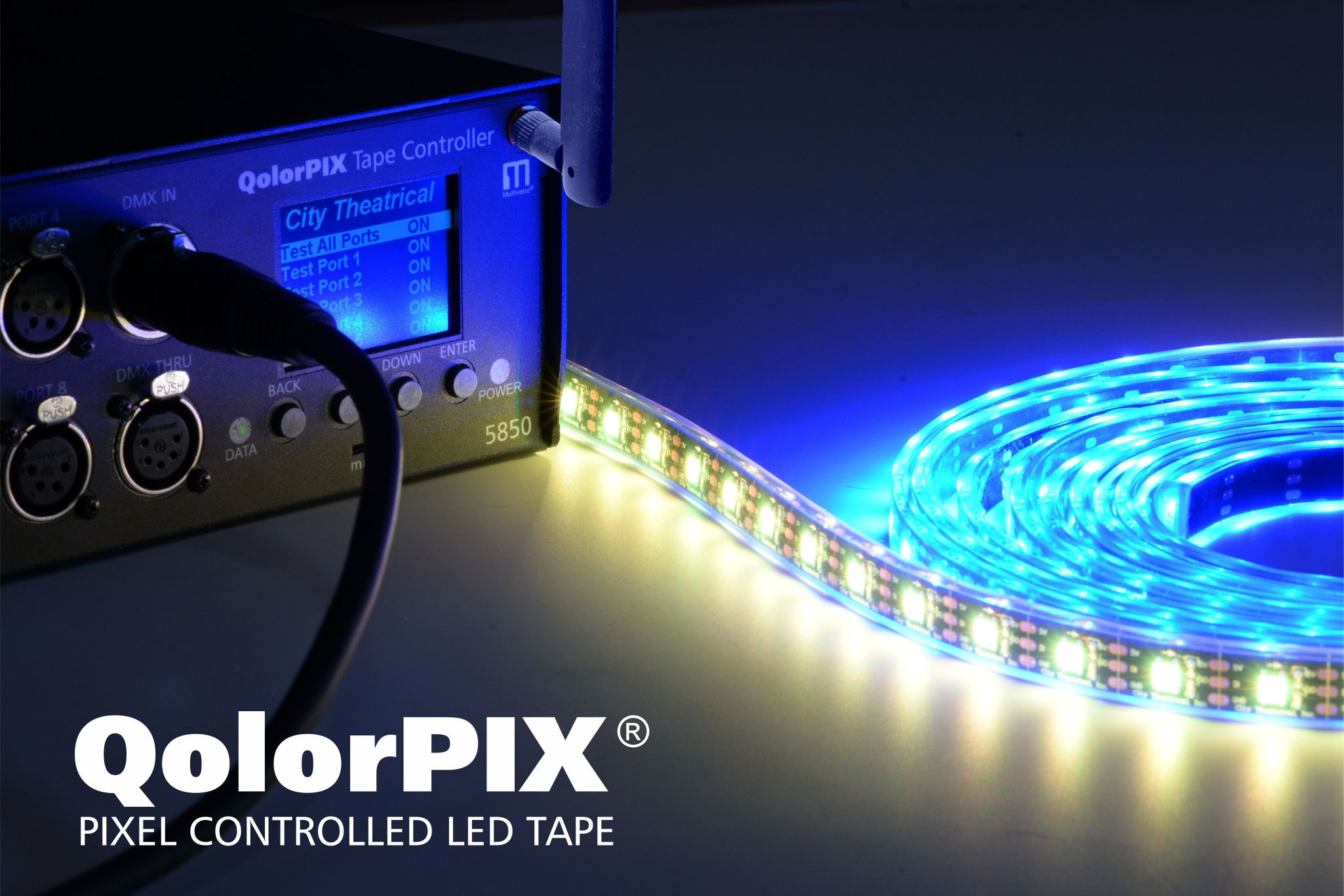QolorPIX Pixel Controlled LED Tape and Controller