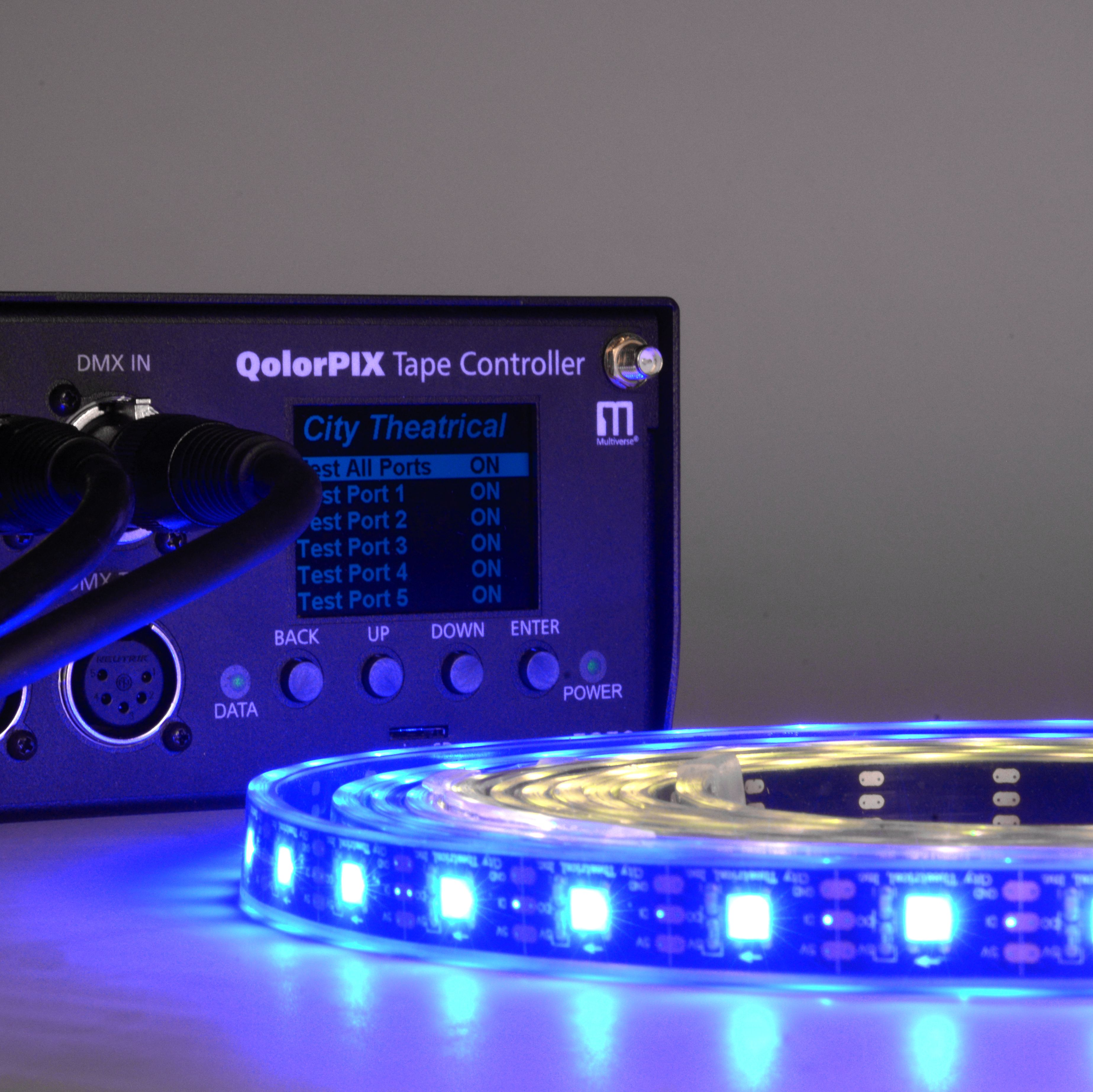 QolorPIX Pixel Controlled LED Tape and Tape Controller