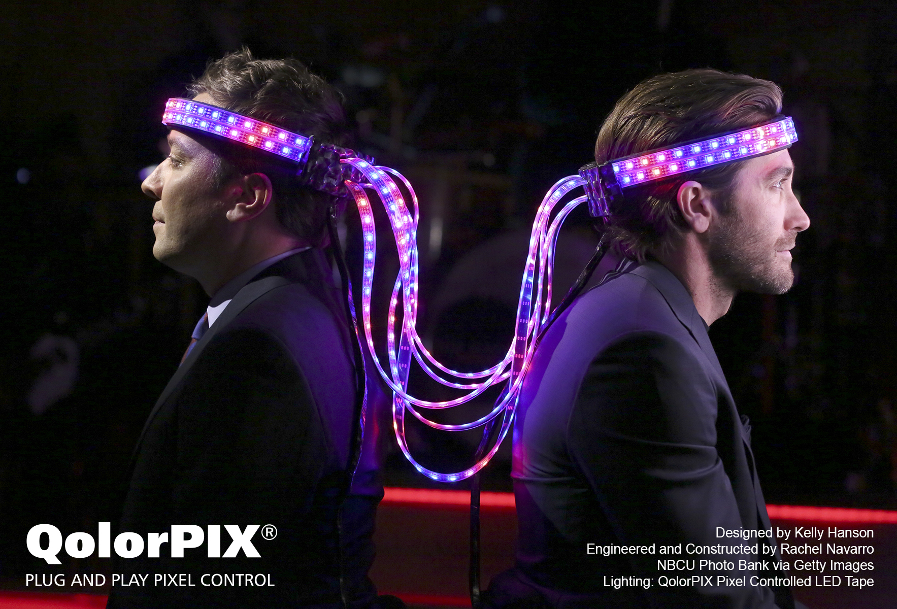 QolorPIX Pixel Controlled LED Tape on the Tonight Show