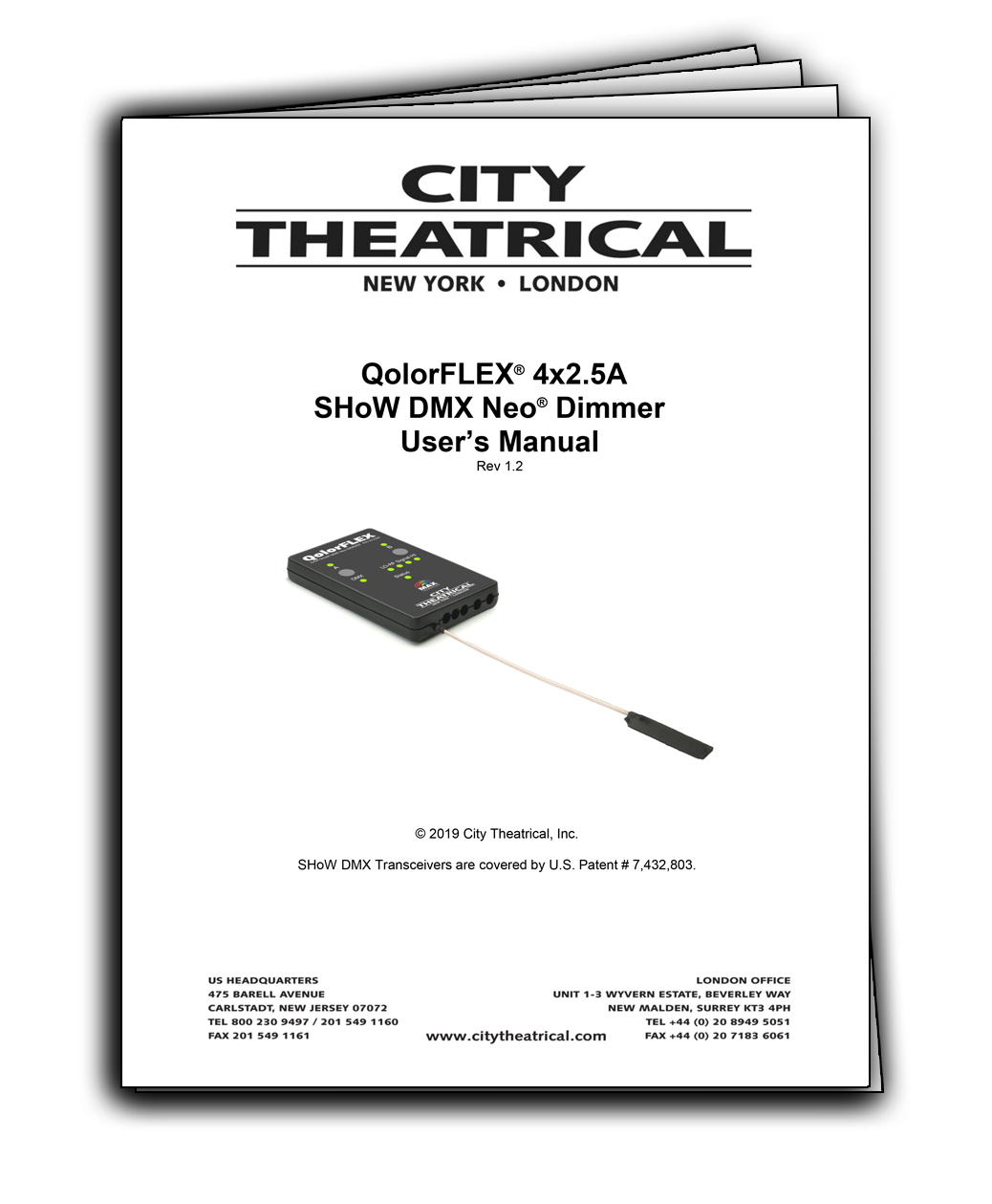 User's Manual for QolorFLEX SHoW DMX Neo 4x2-5A Dimmers
