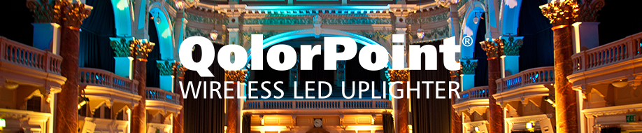 QolorPoint Wireless LED Uplighters at USITT