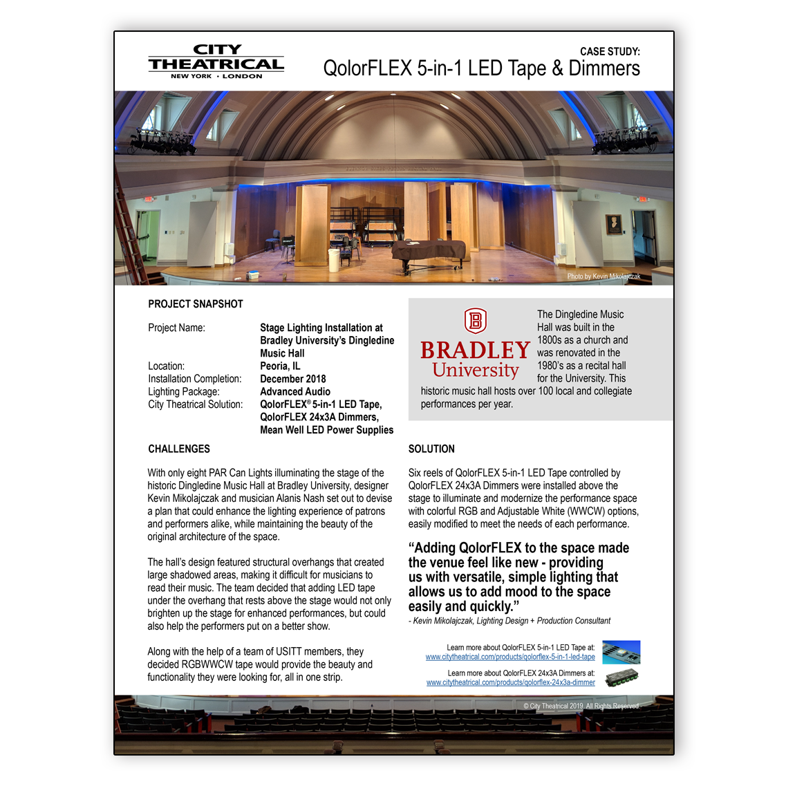 QolorFLEX 5-in-1 LED Tape Case Study: Bradley University