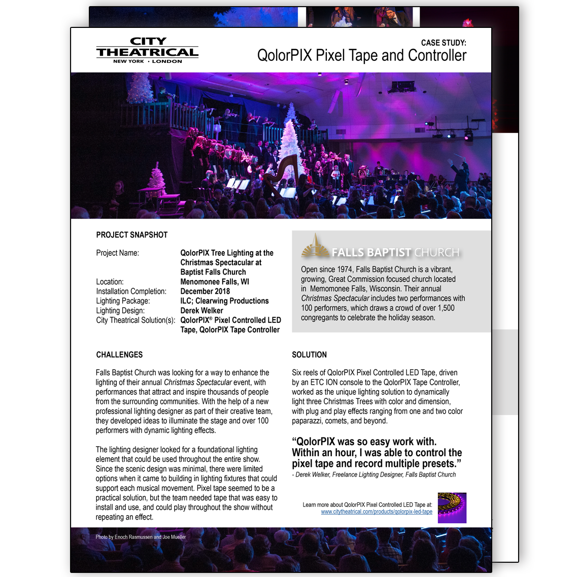 QolorPIX Case Study: Falls Baptist Church Tree Lighting