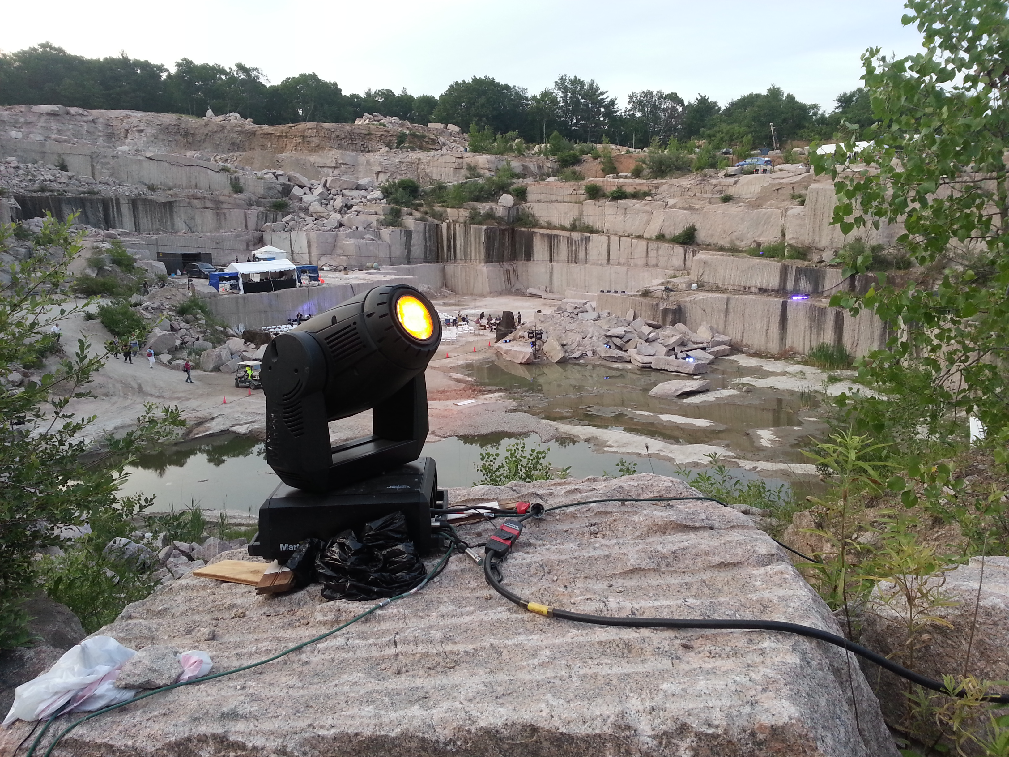 Lights in the quarry