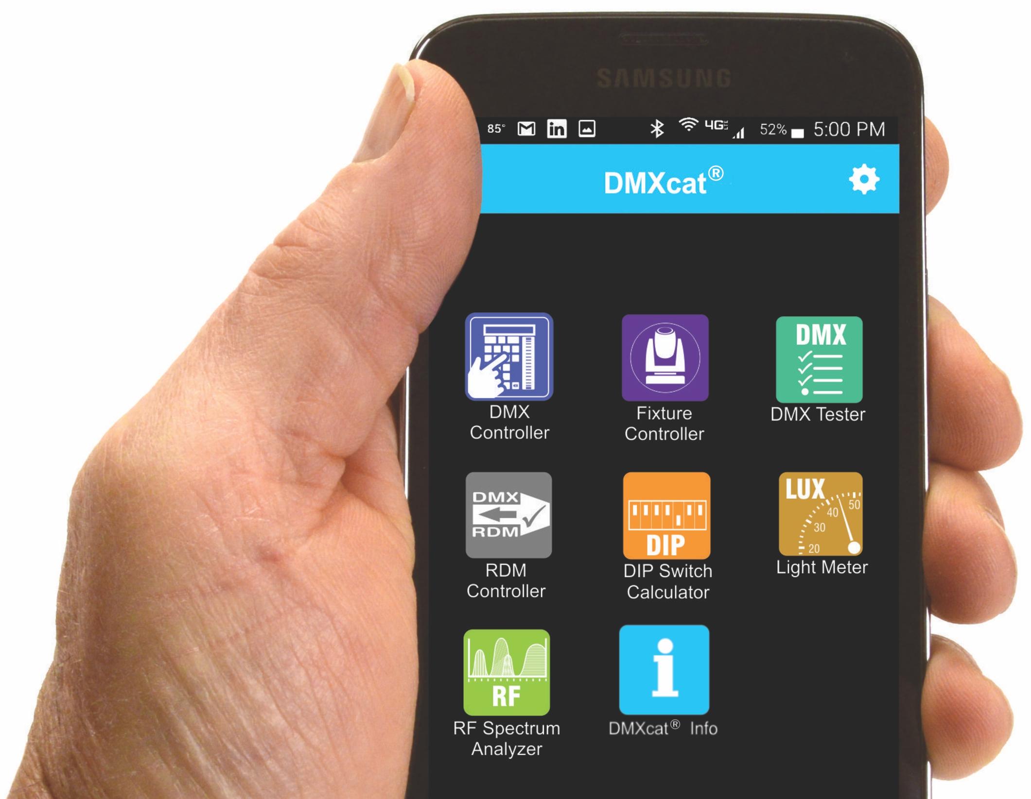 DMXcat Mobile app