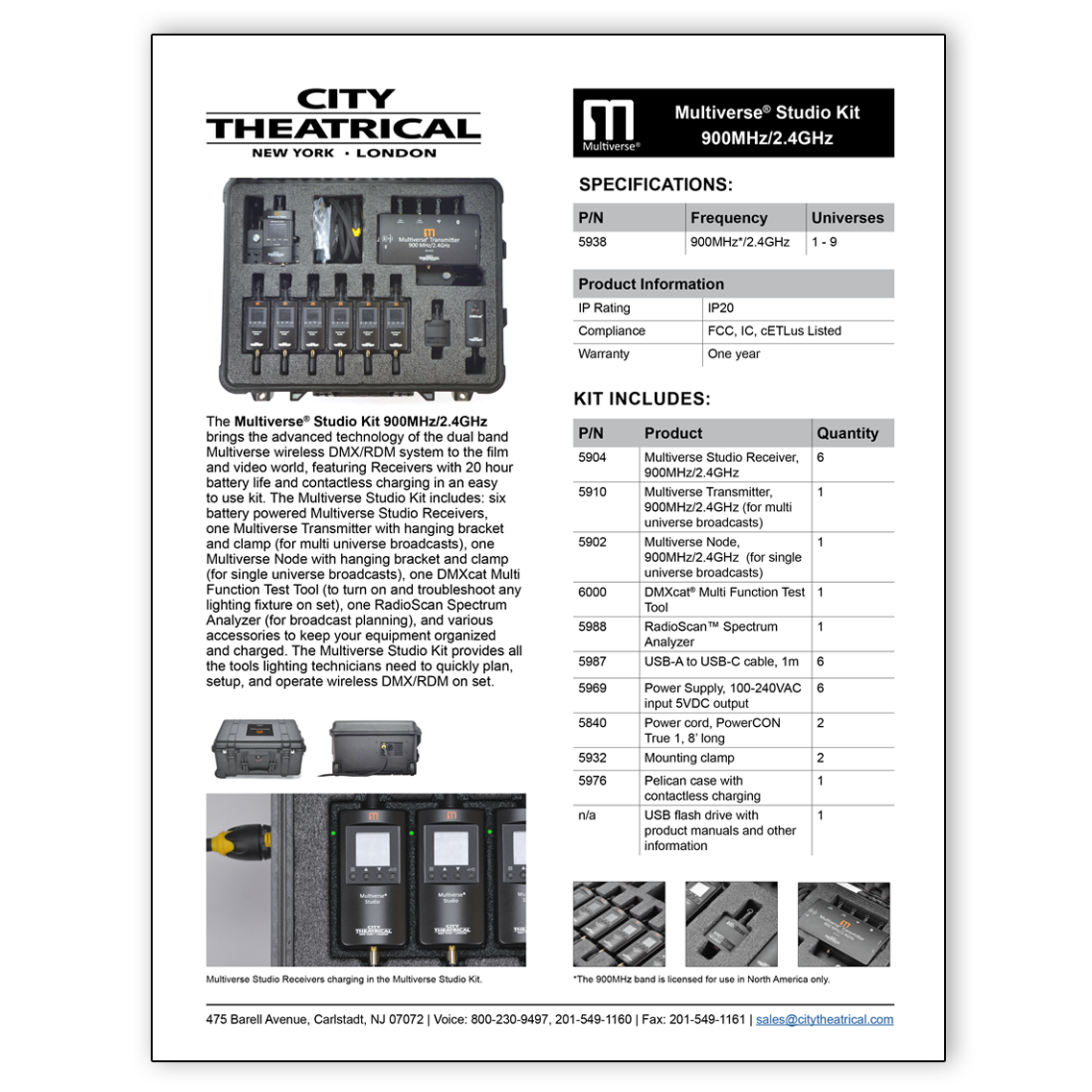 5938 Multiverse Studio Kit cut sheet