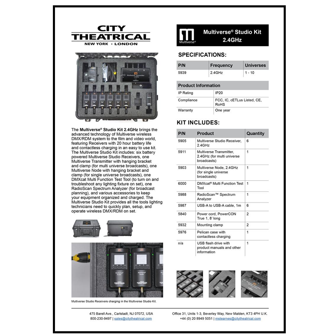 5939 Multiverse Studio Kit cut sheet
