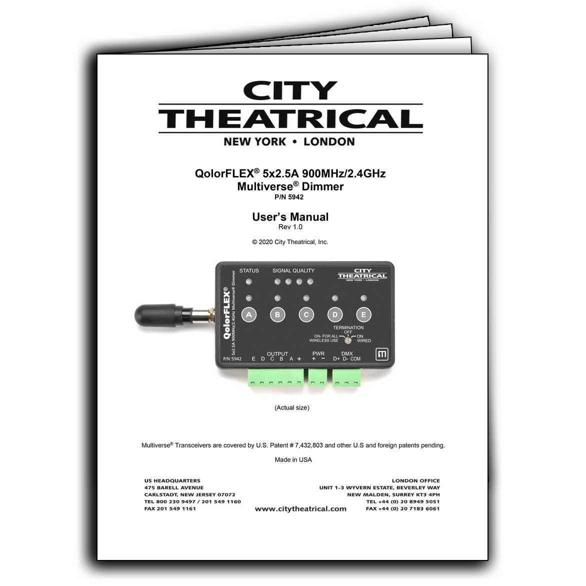 5942 Dimmer User's Manual