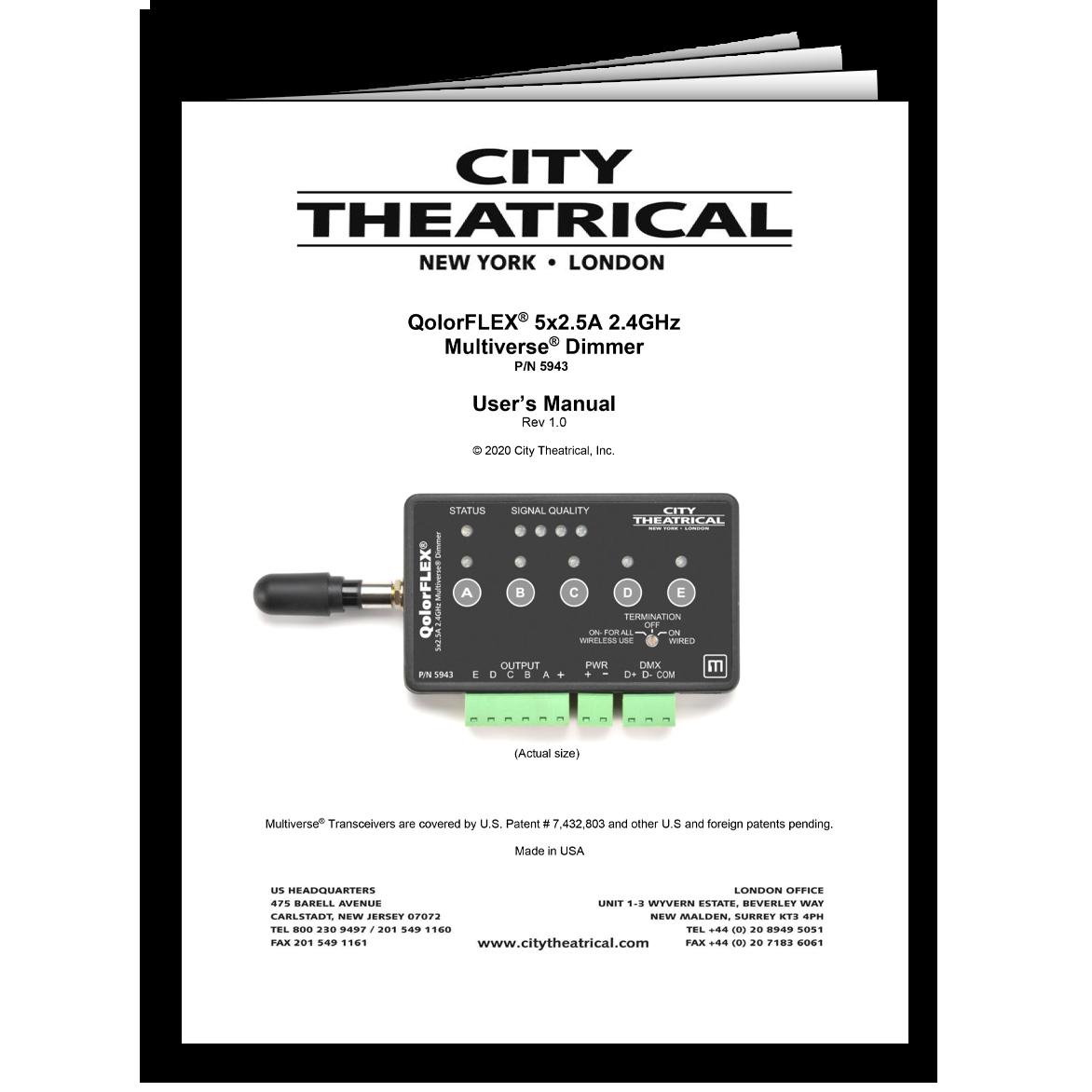 5943 Dimmer User's Manual