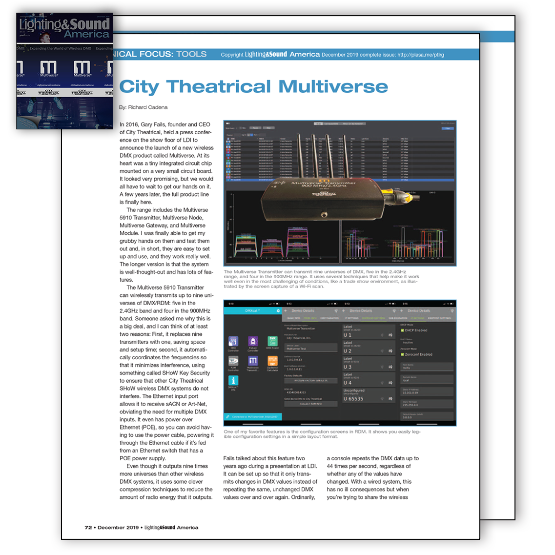 Multiverse Editorial in LSA December 2019