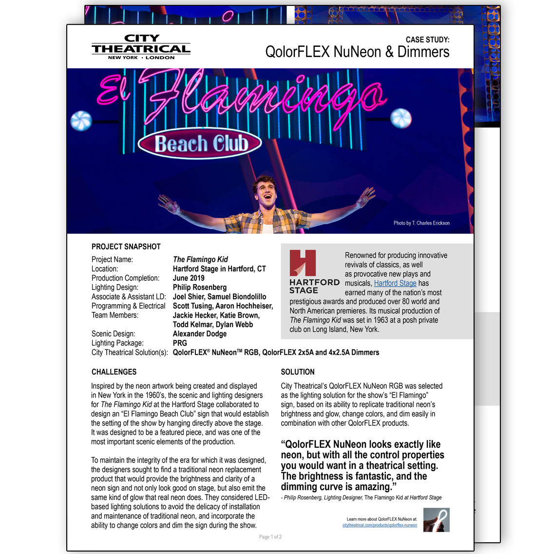 QolorFLEX NuNeon at Hartford Stage case study