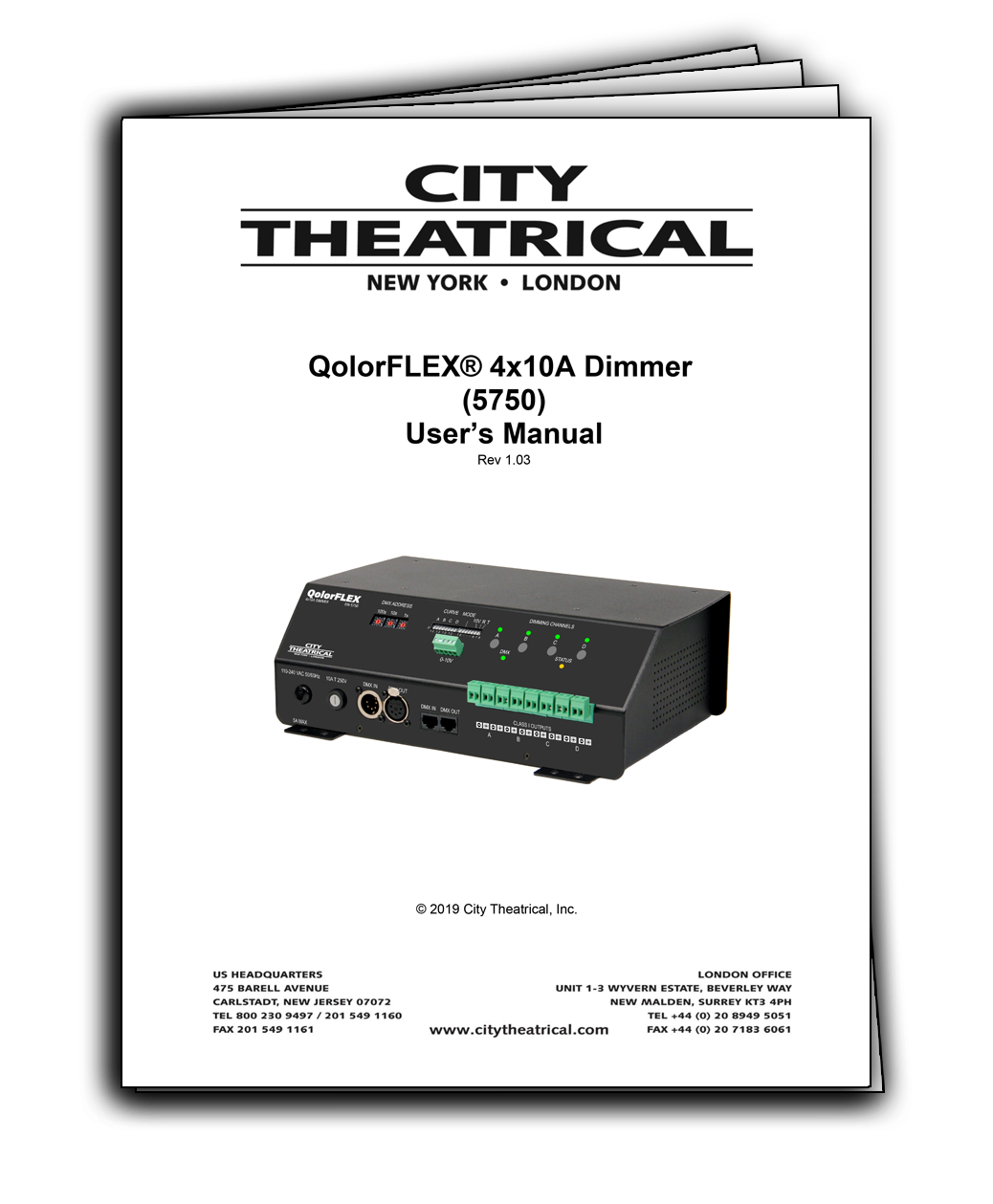 User's Manual for QolorFLEX 4x10A Dimmers (5750)