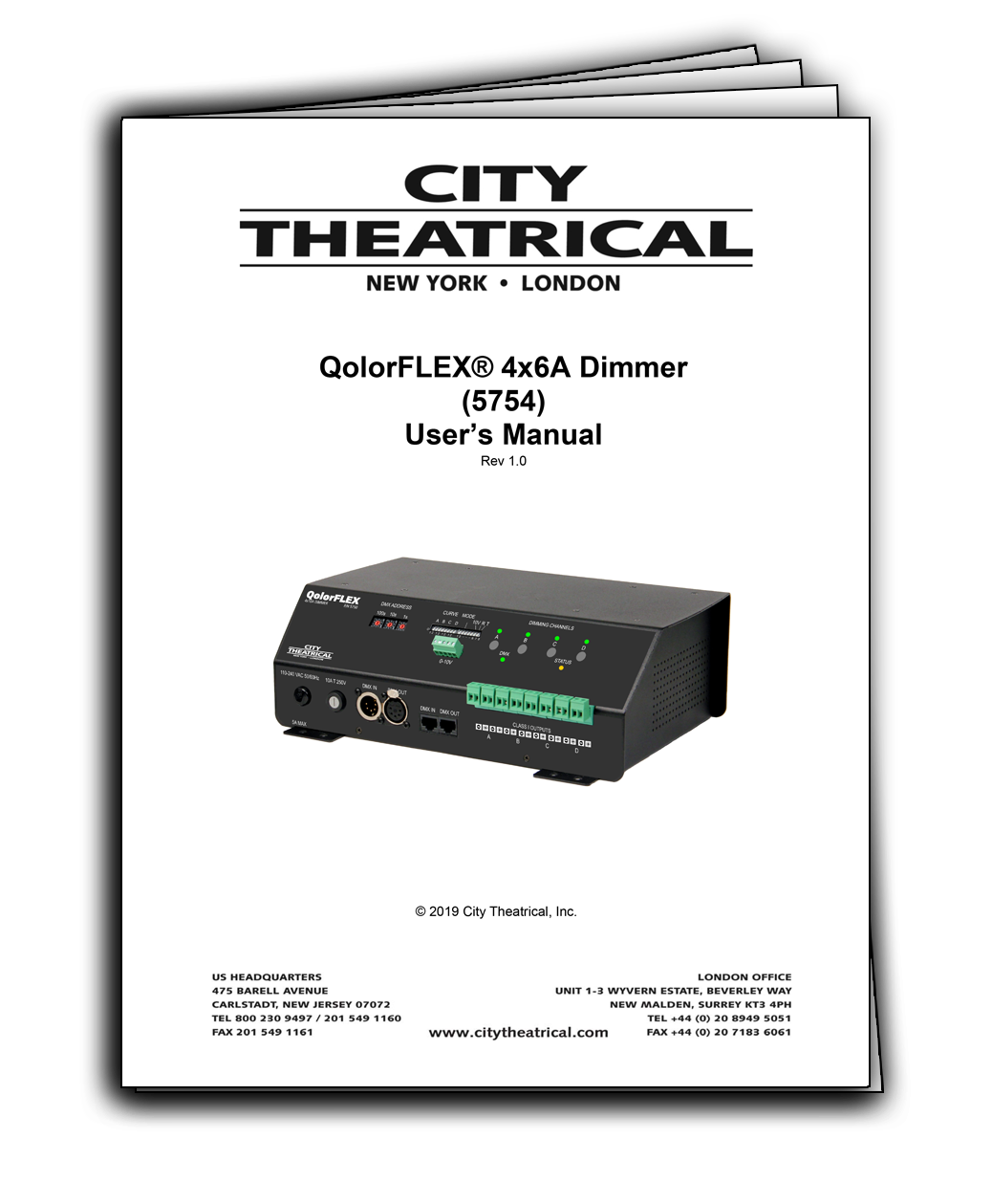 User's Manual for QolorFLEX 4x6A Dimmers (5754)