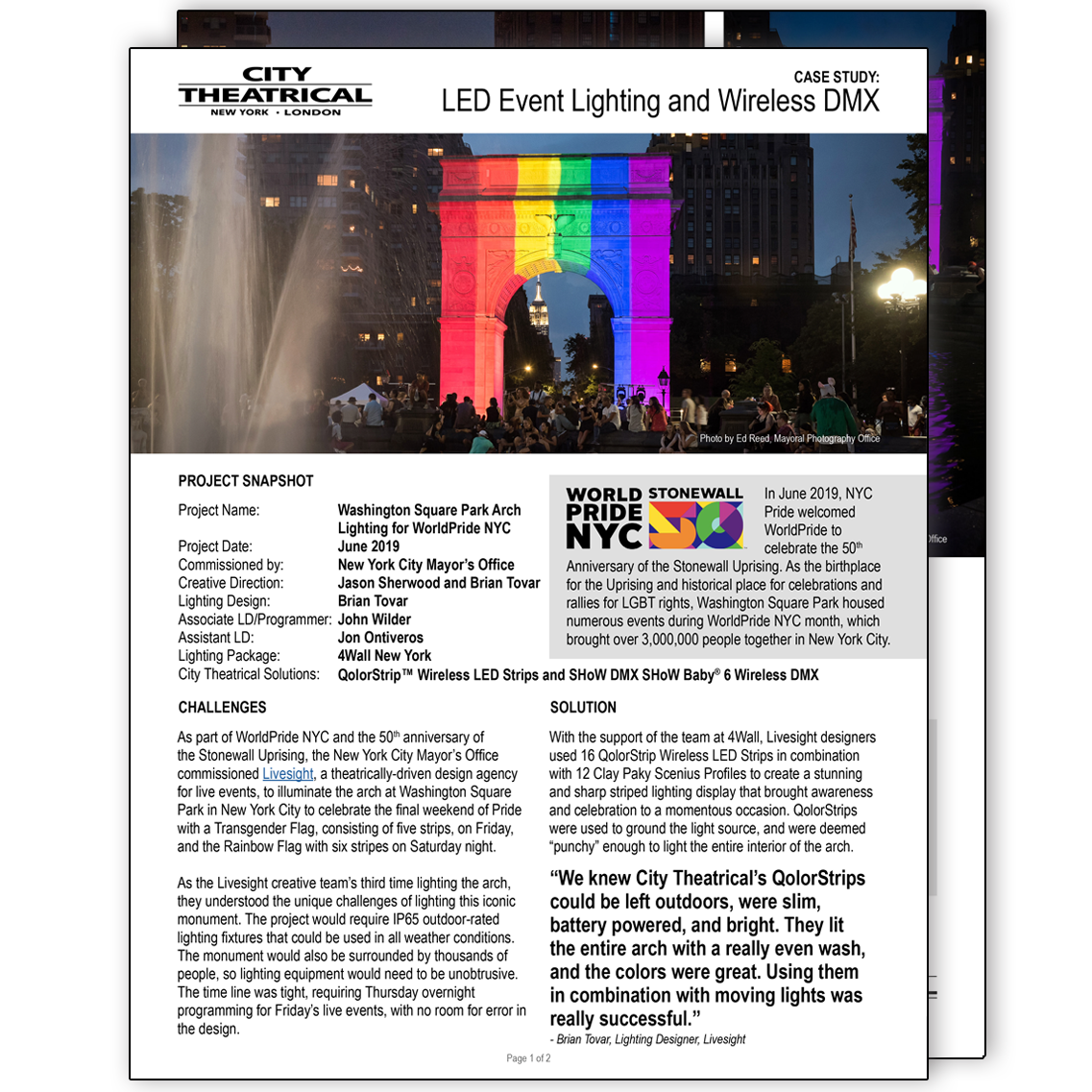 Case Study: QolorStrip Wireless LED Strips at WorldPride NYC